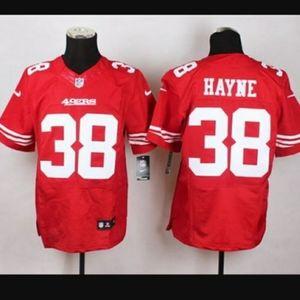 49ERS Jersey #38 HAYNE Men Large Red